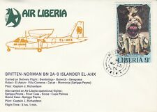 Air Liberia Carried on Delivery flight  BN 2A - 9 Islander & Air Liberia