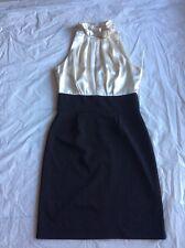 AAStudio Size 6 Black Ivory Sheath Sleeveless Cocktail Wear Dress Pre-owned B#2