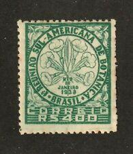 NO RESERVE AUCTION!!  Brazil stamp #477, MNHOG, 1939