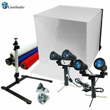 "24"" Table Top Photography Studio Light Tent Kit Box Photo Dual Lighting Cube"