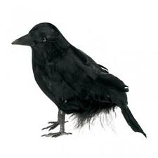 Halloween Small Feathered Raven Party Prop/Decorations x 3