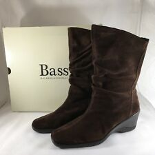 NEW Bass Women's Chocolate Brown Suede Leather Ganelle Boots Sz 7.5 Medium