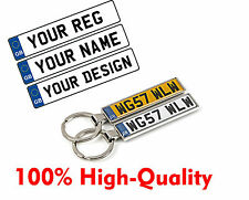 Personalised uk License number plate Keychain Keyring Holder poison AUDI BMW