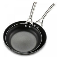 Calphalon Nonstick 10 in and 12-Inch Fry Pan Set Hard Anodized Aluminum Stovetop