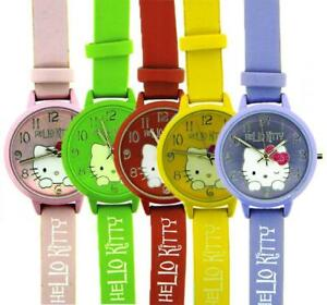 Watch HELLO KITTY HK.7539LT Leather Pink Yellow Green Purple Child Coloured