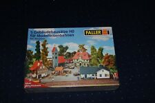 Faller HO Set Bergheim 5 Gebäudebausätze neu und unbenutzt