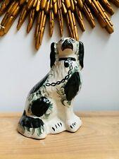 More details for staffordshire pottery figure king charles spaniel mantle dog antique
