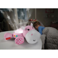 Fisher-Price Hippo Plush Projection Nightlight Musical Nursery Soother 0M+ -Pink