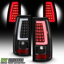2003-2006 Chevy Silverado 1500 2500 3500 Black LED Tube Tail Lights Brake Lamps