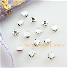 150Pcs Tibetan Silver Tone Tiny Square Spacer Beads Charms 2.5mm