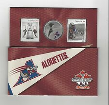 **2012**Canadian Football League Coin & Stamp Uncirculated Set, Mtl Allouettes