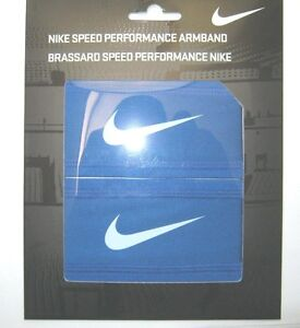 Nike Speed Performance Armband 1 pair Men's Women's One Size Blue New NWT