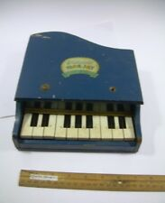 BLUE MarJay toy piano > case rough but plays great > Old School Vintage FUN