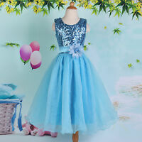 Girls for Age 7~12 Flower Dress Formal Party Child Wedding Bridesmaid Birthday