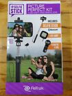 ReTrak Folding Selfie Stick with Lens & Flash, Black, Bluetooth Enabled