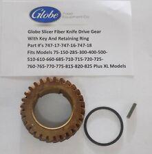 Globe Slicer Fiber Gear Kit Gear 747-17-Key-747-18-Ring-747-19 Fits Models Below