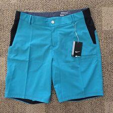 Nike Modern Tech Woven Mens Golf Shorts Size 34 Omega Blue Gray 725706-418
