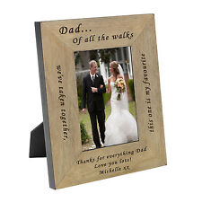 Personalised Father of the Bride Oak Wood Veneer Photo Frame 6x4  Gift Idea