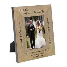 Personalizzato il padre della sposa impiallacciatura di legno di quercia Cornice Foto 6x4 IDEA REGALO