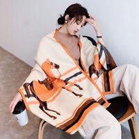 Luxury Scarf Women Fashion Imitate Cashmere Pashmina Horse Kerchief Shawl Hijab
