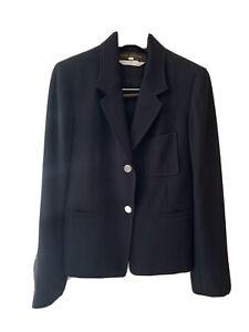 Louis Vuitton Uniforms Womens Blazer Navy Blue Size 34 - Silver Logo Button