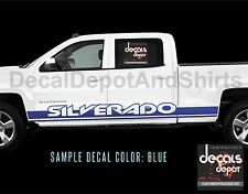 Fits Chevy Silverado 1500 2500HD 3500HD 4x4 LTZ Z71 Extended Cab 2X Decal Stripe
