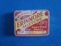 MURRAY'S ERINMORE MIXTURE Tobacco tin BELFAST old rare vintage cigarette case