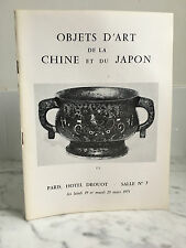 Catalogue de vente Objets d'Art de la Chine et du Japon 19 et 20 Mars 1973