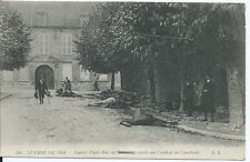 CPA-02 - CREIL - Aspect of a street Soissons after one combat de cavalry