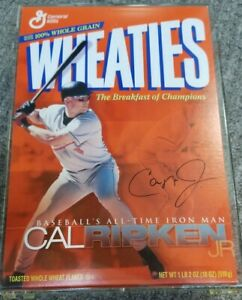 2001 Wheaties Cal Ripken Jr SIGNED All-Time Iron Man Commemorative Box