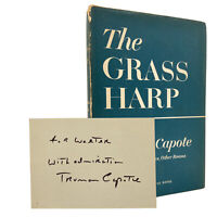 SIGNED & INSCRIBED – The Grass Harp – 1ST EDITION – 1st Printing – CAPOTE 1951