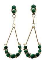Zuni Malachite Sterling Silver Post Earrings - Erma Esalalio