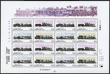 Corea sur 2000 ferrocarril trains locomotoras 2073-2076 Klein arco mnh