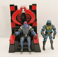 GI Joe Cobra Custom Throne 3D Printed Cobra Commander Throne Red & black