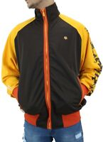 Rocawear Mens Lightweight Star Zip Up Chocolate Brown Track Jacket