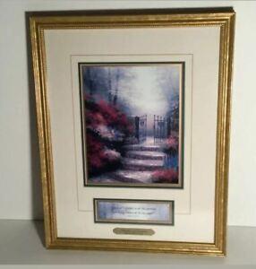 Artwork: Thomas Kinkade 'Garden of Promise' Accent Lithograph Print COA