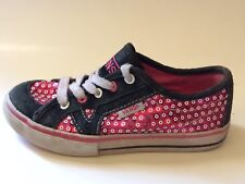 cd39425598f2 Vans Girls 11.5 Toddler Casual Sneaker Skate Shoes Leather Pink Black White  Kids
