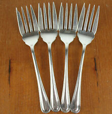 "4 x Salad Forks 5 3/4"" Birks Regency Plate York vintage silverplate silver"