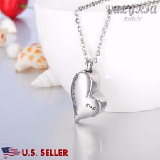 US Gift Dad Forever in My Heart Cremation Jewelry Keepsake Memorial Urn Necklace