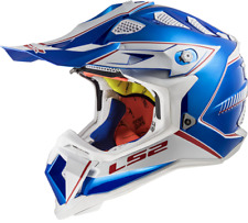 LS2 MX470 Subverter Power Motocross Helmet Chrome Blue Off Road Crash Racing MX