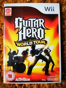 Guitar Hero World Tour Wii + Stickers for your guitar Controller!