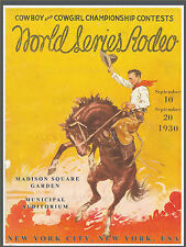 1930 Madison Square Garden VINTAGE RODEO POSTER-New York City, NY
