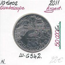 Pièce de 10 EUROS DES REGIONS en Argent - 2011 - GUADELOUPE (50 000 EX) // NEUVE