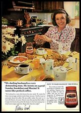 1974 Maxim Dried Coffee Patricia Neal Sunday Breakfast Vintage PRINT AD 1970s