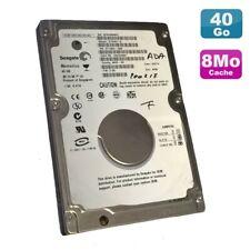 "Festplatte Laptop 40Go Ide 2.5 "" SEAGATE Momentus ST94811A 5400RPM 8Mo"