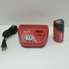 Milwaukee M12 12 Volt 12V 2.0Ah Lithium-Ion Battery & Charger