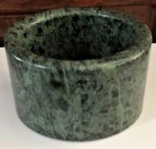 """GREEN MARBLE NUT/CANDY BOWL  4 1/4"""" WIDE"""