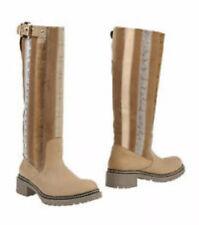 NIB Maliparmi Knee High Leather Multi Fabric Boots 10/41