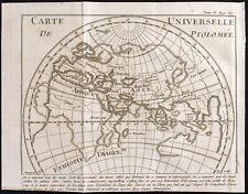 1743 - Carte ancienne universelle de Ptolémée - Carte du monde