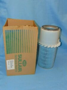 "SULLAIR, AIR FILTER, 02250131-498, FULL FLOW, CELLULOSE, 8.84"" OD, 16"" H"
